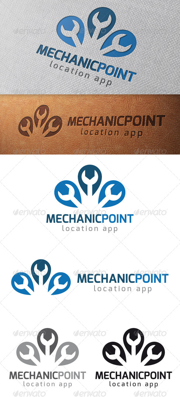 GraphicRiver Mechanic Point Logo Template 4998273