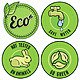 Set with Circle Ecology Labels  - GraphicRiver Item for Sale