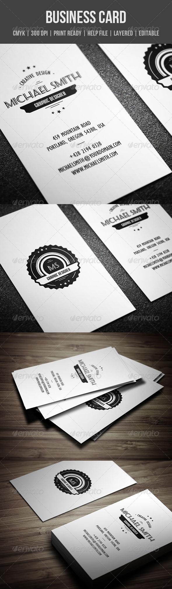 GraphicRiver Retro Business Card 4998497