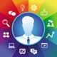 Vector Businessman and Social Media Icons - GraphicRiver Item for Sale