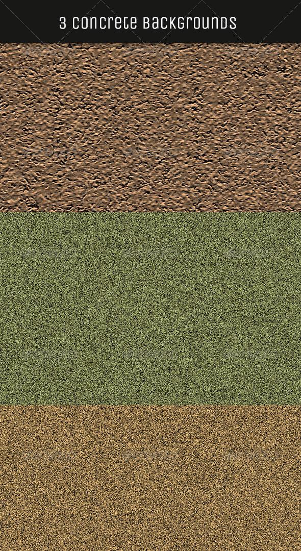 GraphicRiver 3 Seamless Concrete Textures 4998510