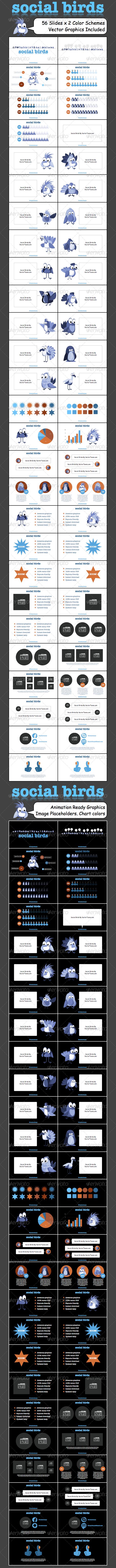 GraphicRiver Social Birds Vector Infographic 4995146