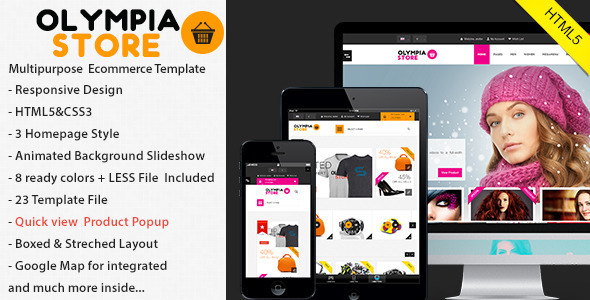 ThemeForest Olympia responsive Html5 eCommerce 4852725