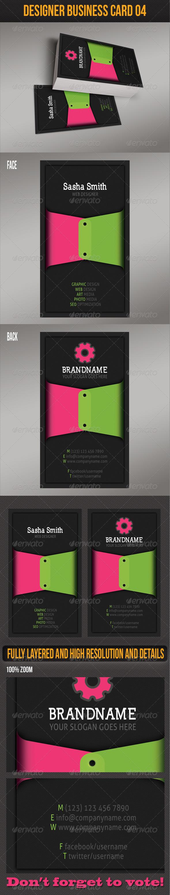 GraphicRiver Designer Business Card 04 4998587