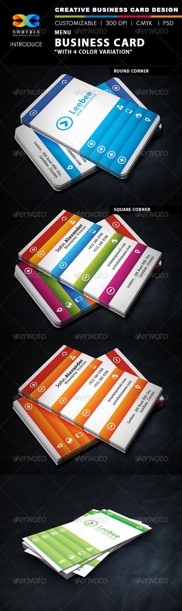 GraphicRiver Menu Business Card 4998682