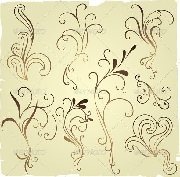 GraphicRiver Floral Elements 4998823