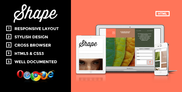 Shape - Professional HTML Photography Theme