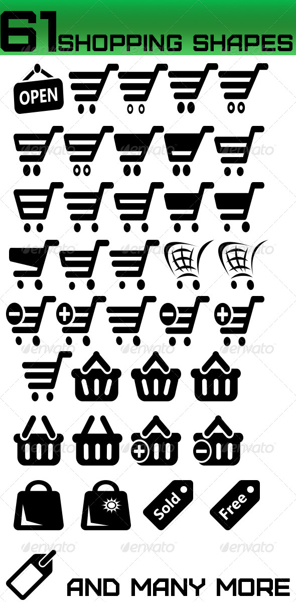 GraphicRiver Shopping Shapes 4999447