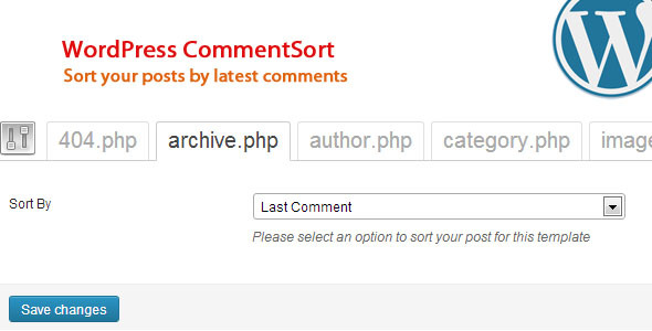 CodeCanyon WordPress Comment Sort 4999707