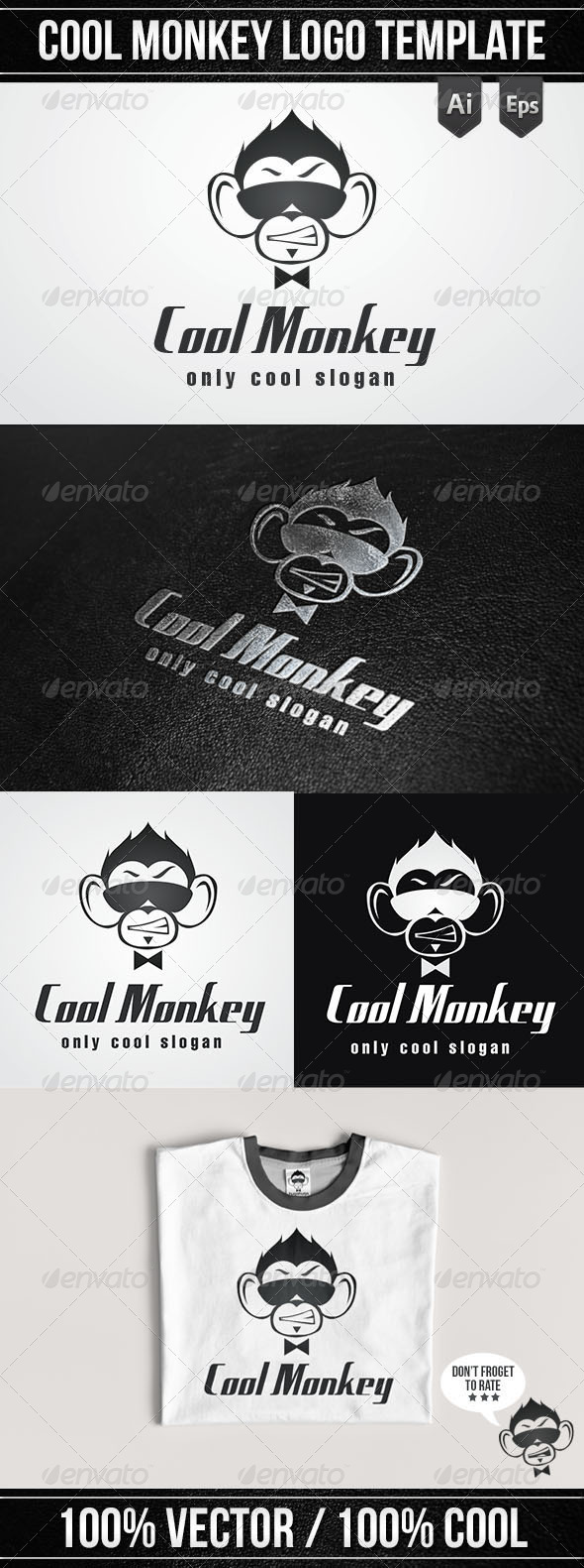 Cool Monkey Logo Template - Logo Templates