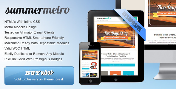 ThemeForest Summer Metro Metro Email Template 5001203