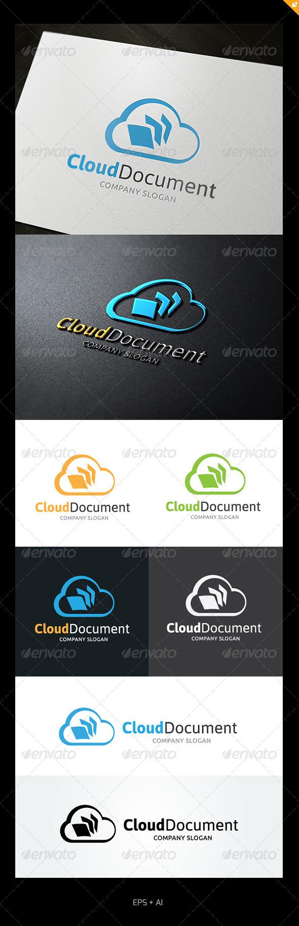 GraphicRiver Cloud Document Logo 5001555