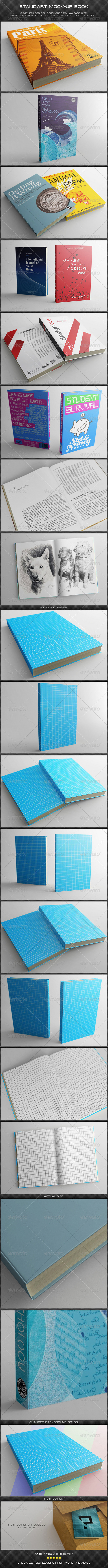 Standart Book Mock-Up  - Books Print