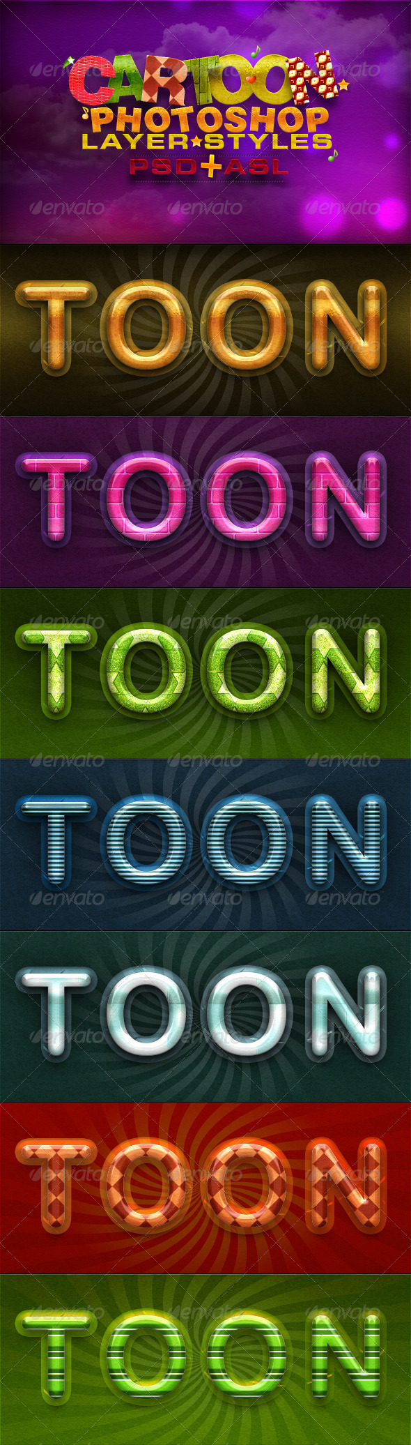 GraphicRiver Cartoon Layer Styles 5001737