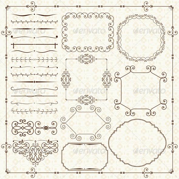 GraphicRiver Vintage Design Elements 5001753