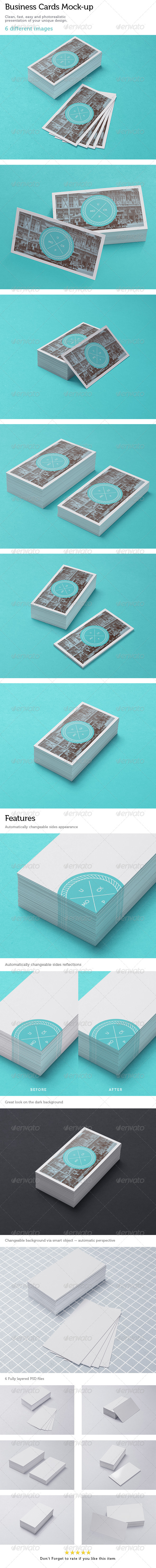 GraphicRiver Business Cards Studio Mock-up 3 5001909