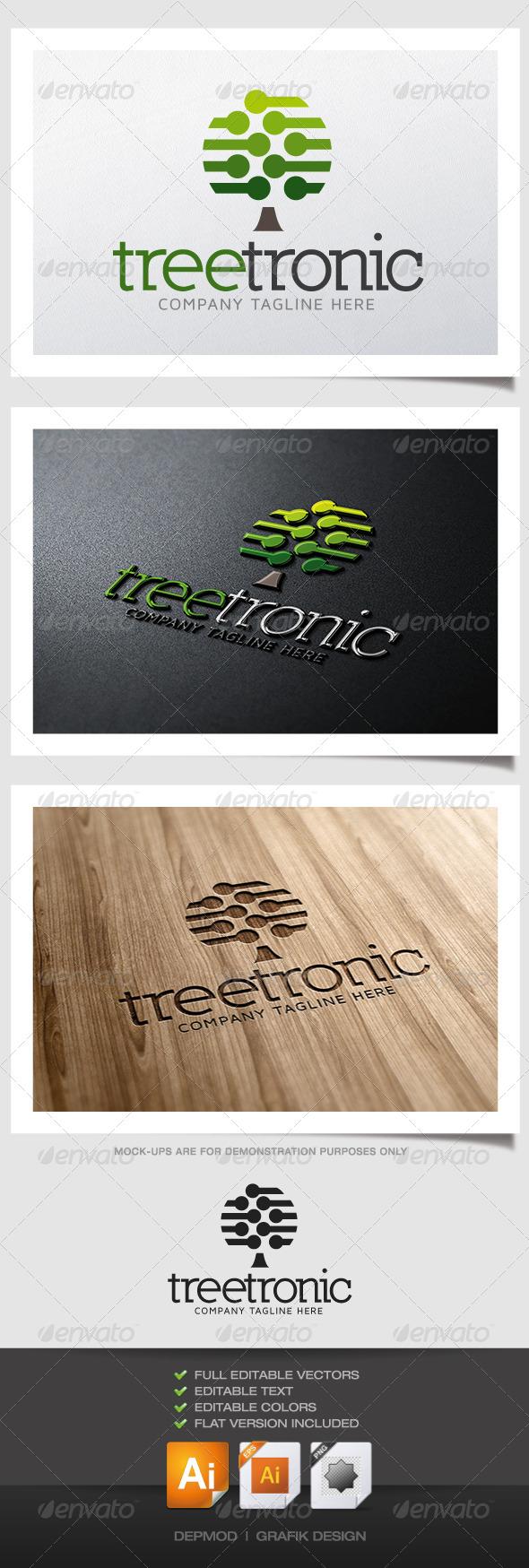 GraphicRiver Tree Tronic Logo 5001950