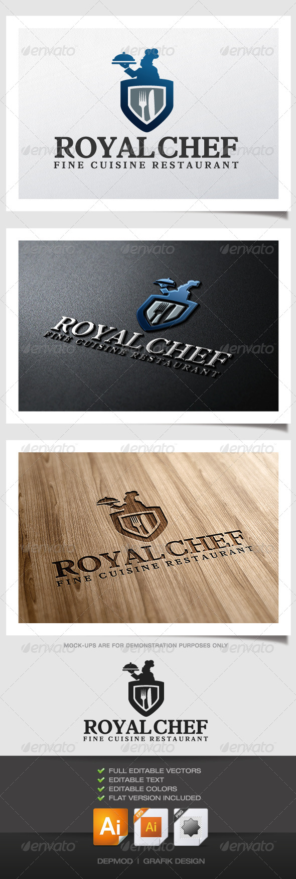 GraphicRiver Royal Chef Logo 5001997