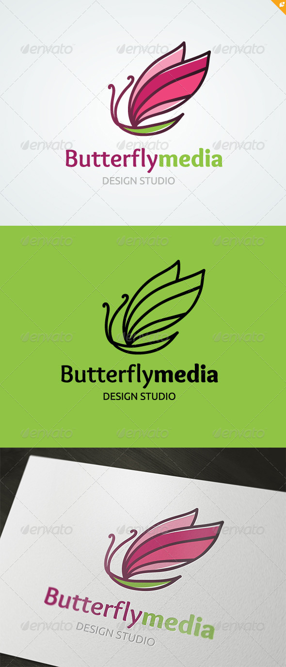GraphicRiver Butterfly Media Logo 5002122