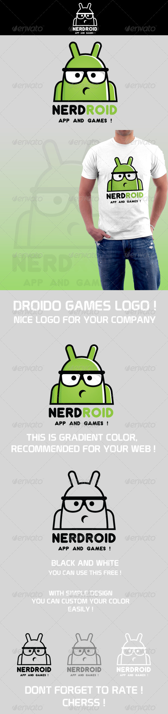 Nerdroid Logo - Humans Logo Templates