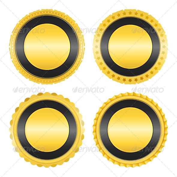 GraphicRiver Golden Badges 5002423