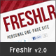 Freshlr Personal One-Page Site Template - ThemeForest Item for Sale