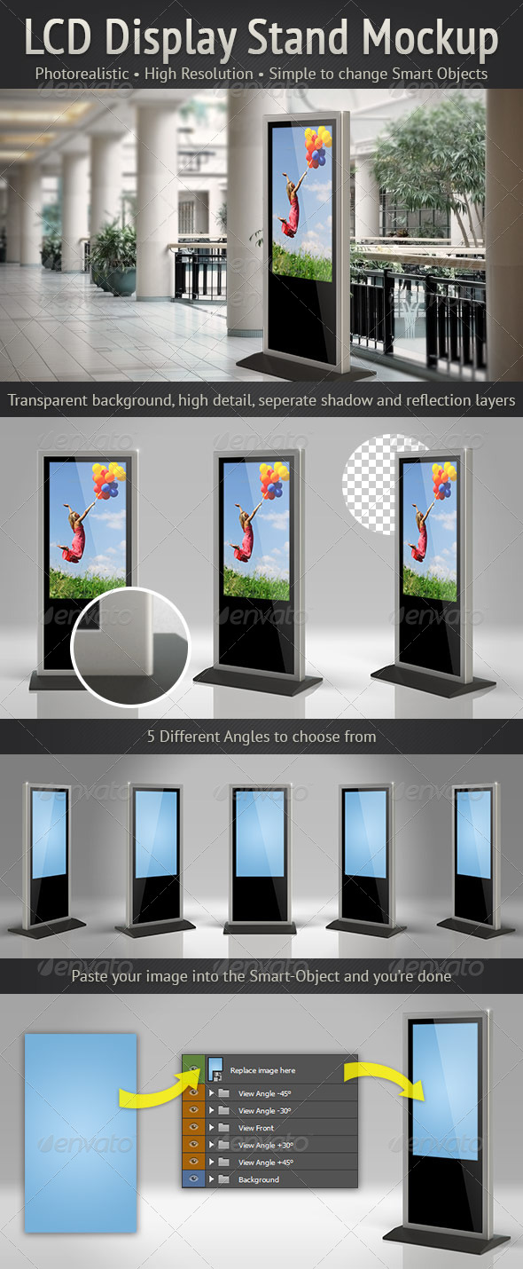 GraphicRiver LCD Display Stand Mockup 5002530