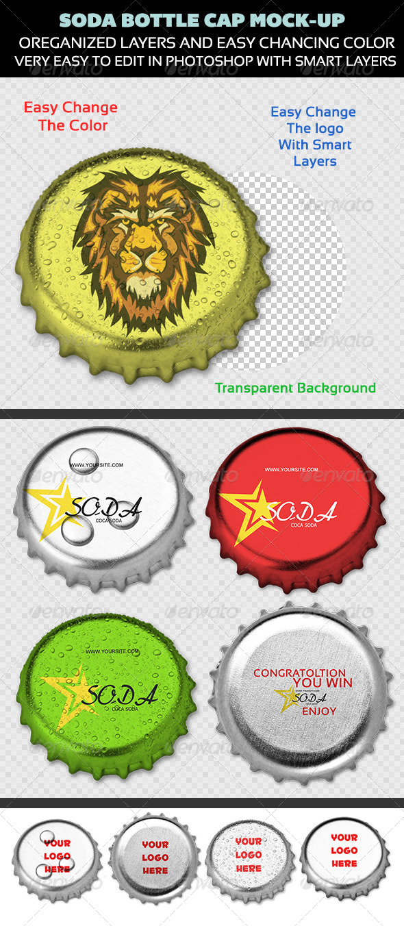 Soda Bottle Cap Mock-Up - Miscellaneous Print