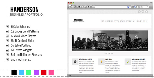 Handerson - Premium Business/Portfolio/Blog Theme