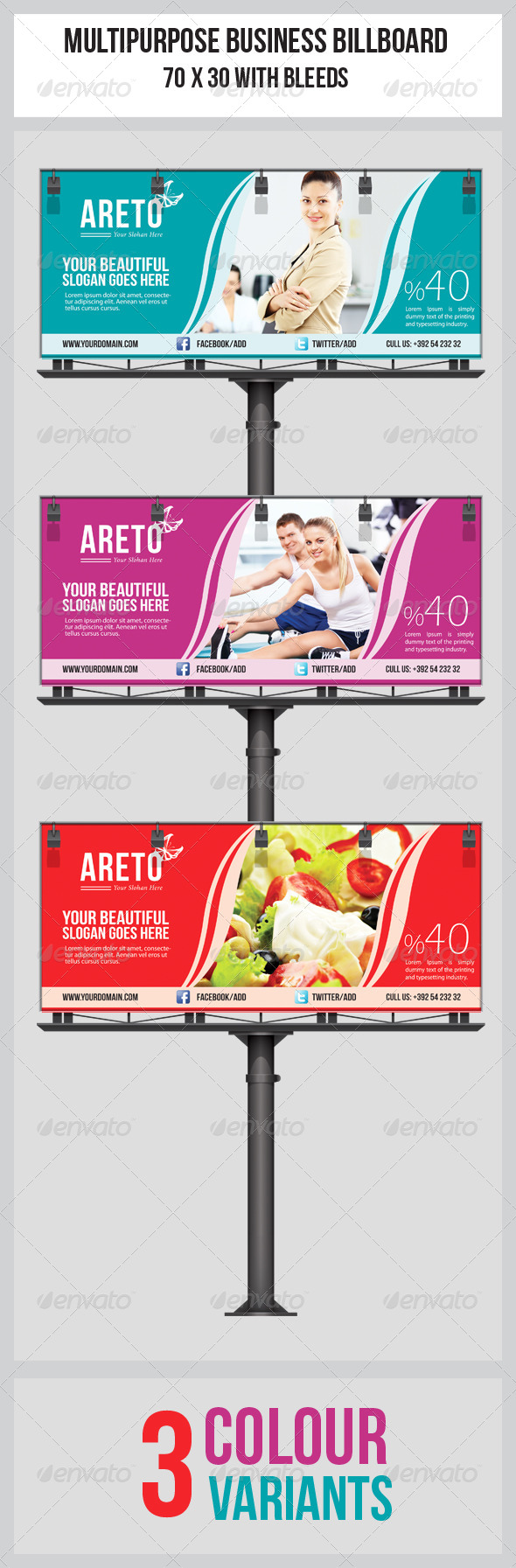 GraphicRiver Multipurpose Business Billboard Template 5002856