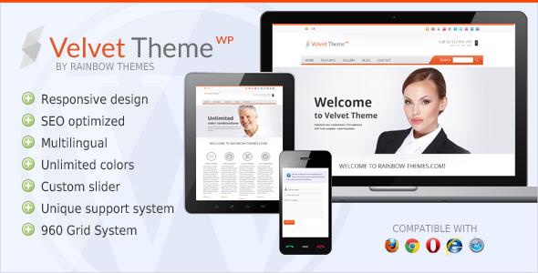 Velvet: Clean, Responsive WordPress Theme - Business Corporate