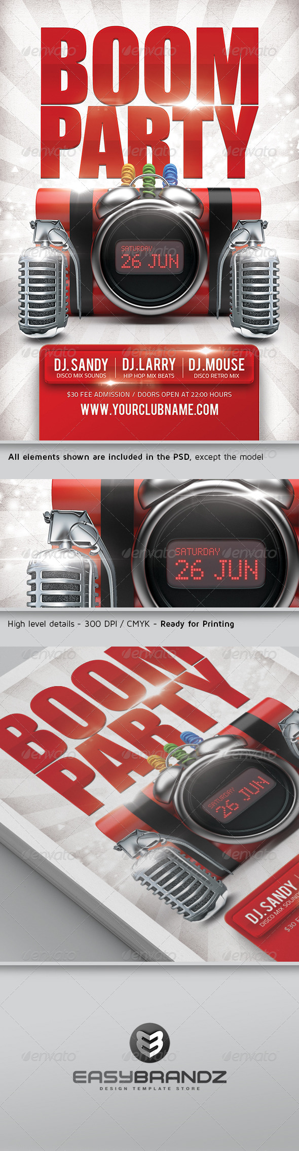 GraphicRiver Boom Party Flyer Template 5003528