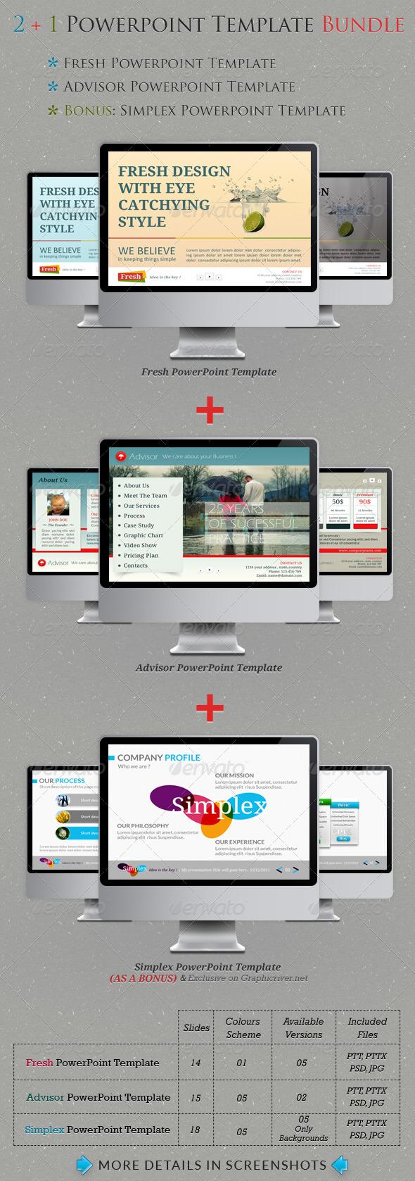 GraphicRiver 2&1 Powerpoint Templates Bundle 516072