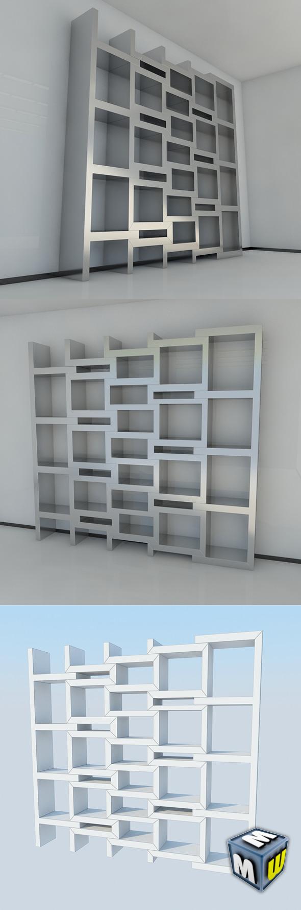 3DOcean Bookshelf 9 MAX 2011 5004313