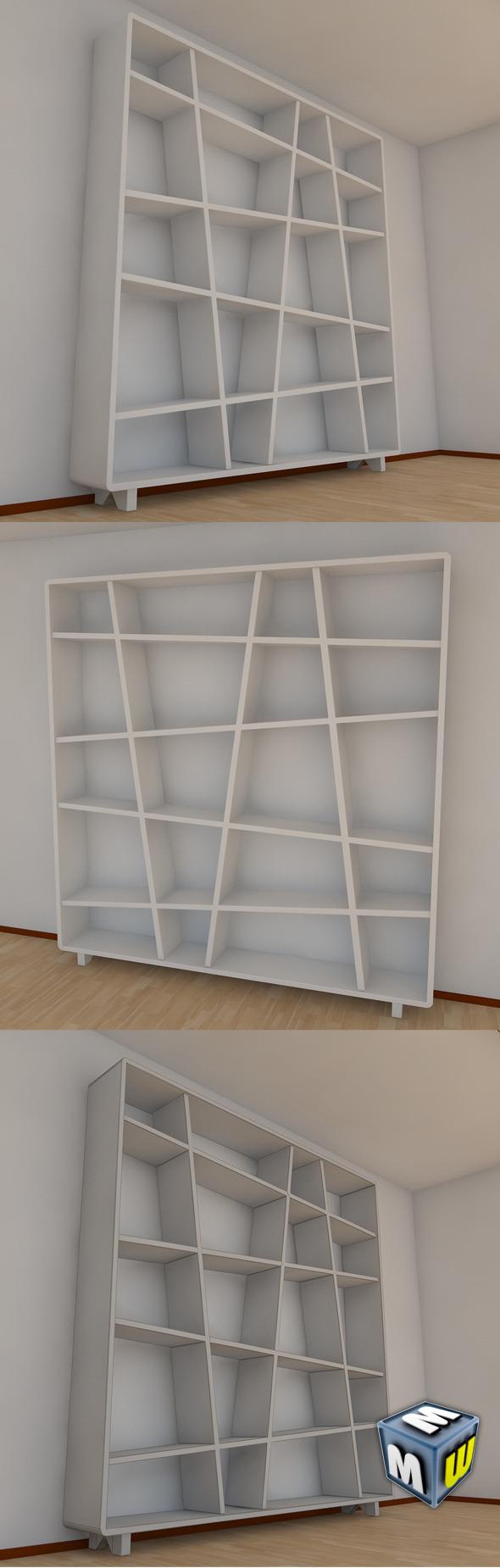 3DOcean Bookshelf 10 MAX 2011 5004326