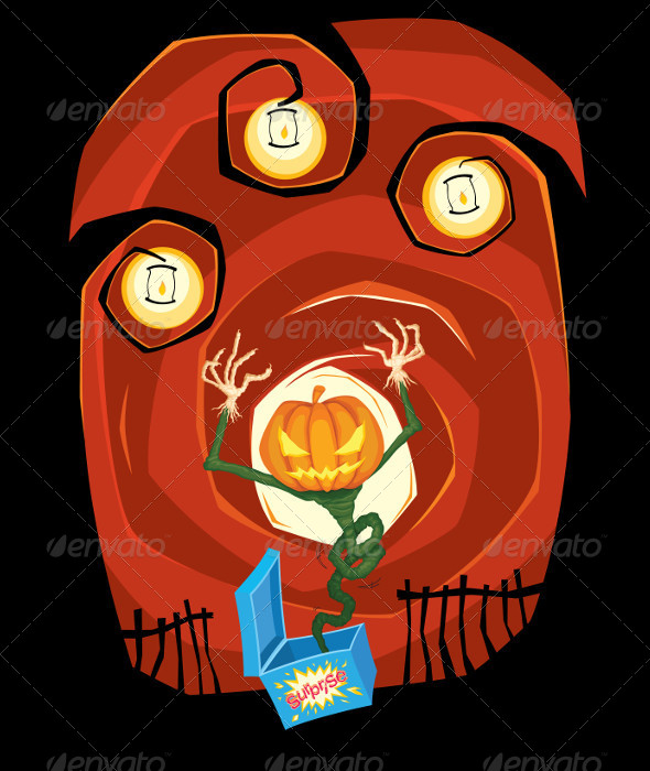 GraphicRiver Jumping Jack O Lantern 5004341
