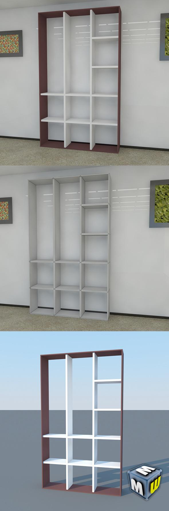 3DOcean Bookshelf 15 MAX 2011 5004345