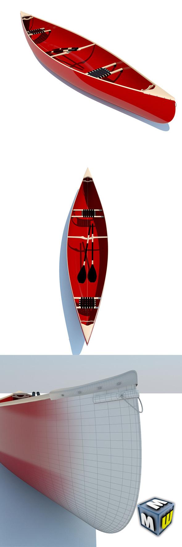 3DOcean Canoe MAX 2011 5004364