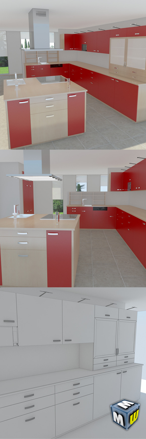 Kitchen Modern MAX 2011 - 3DOcean Item for Sale