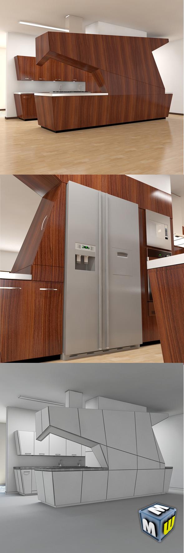 Kitchen Modern MAX 2011 - 3DOcean Item for Sale