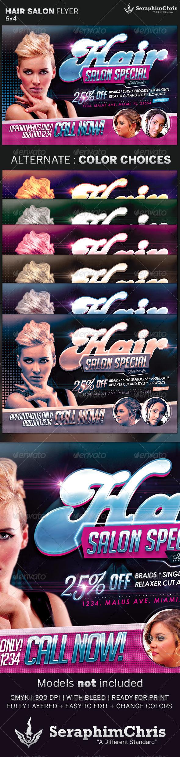 hair salon flyer template – Hair Salon Flyer Template