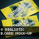 8 Realistic Business Card Mock-up - GraphicRiver Item for Sale