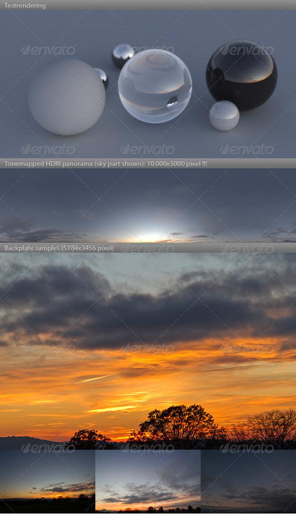 HDRI spherical sky panorama -1731- fall evening - 3DOcean Item for Sale