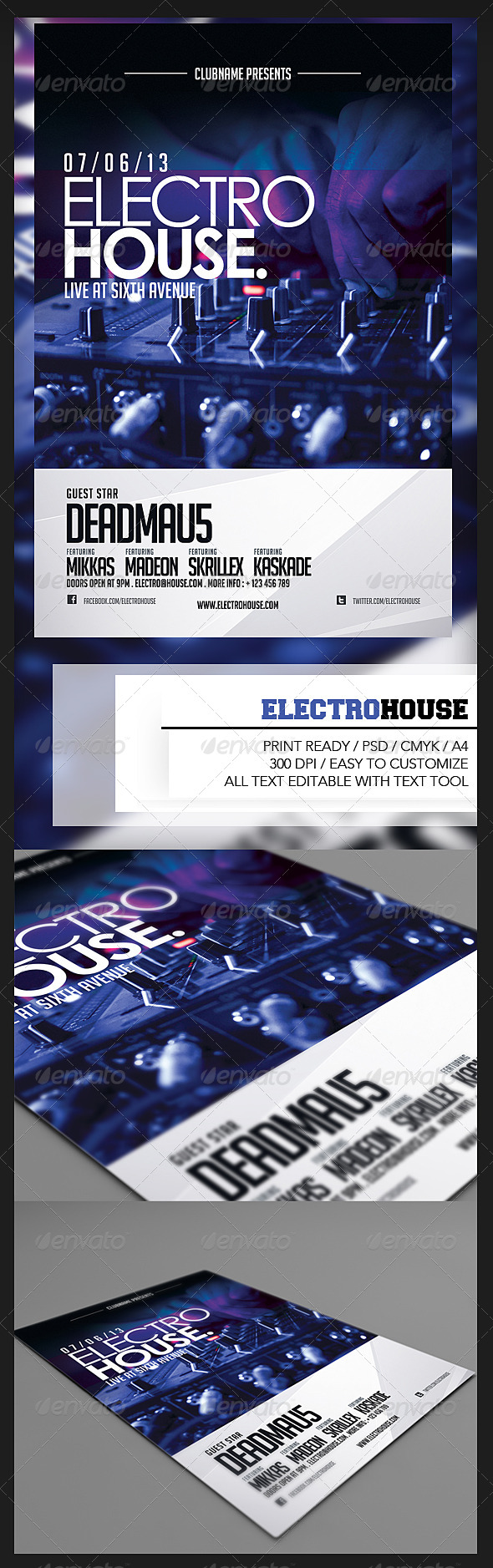 GraphicRiver Electro House Flyer 5005897