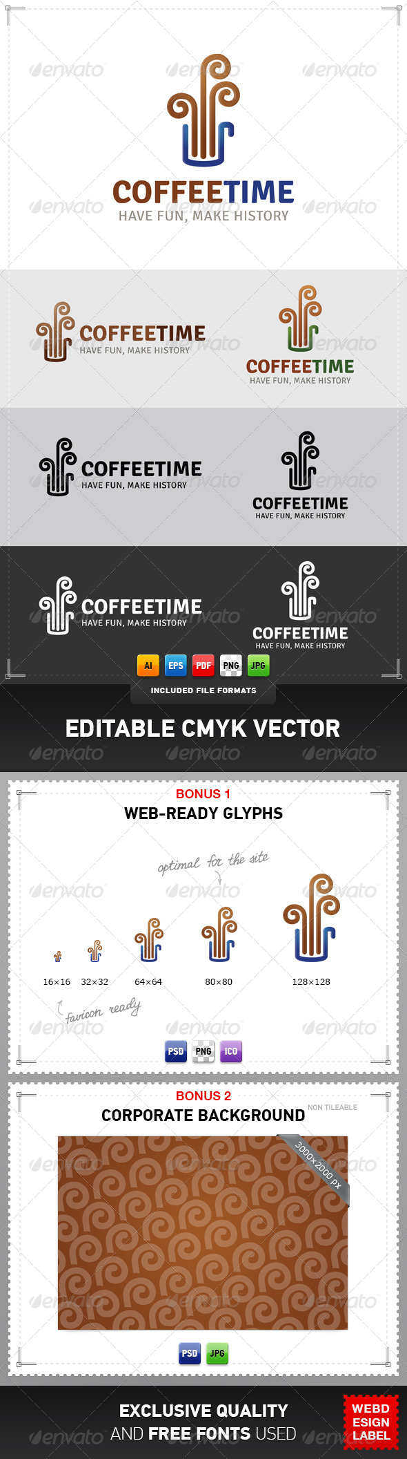 GraphicRiver Coffee Time Logo 5006070
