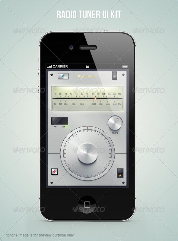 GraphicRiver Radio Tuner UI Kit 5006090