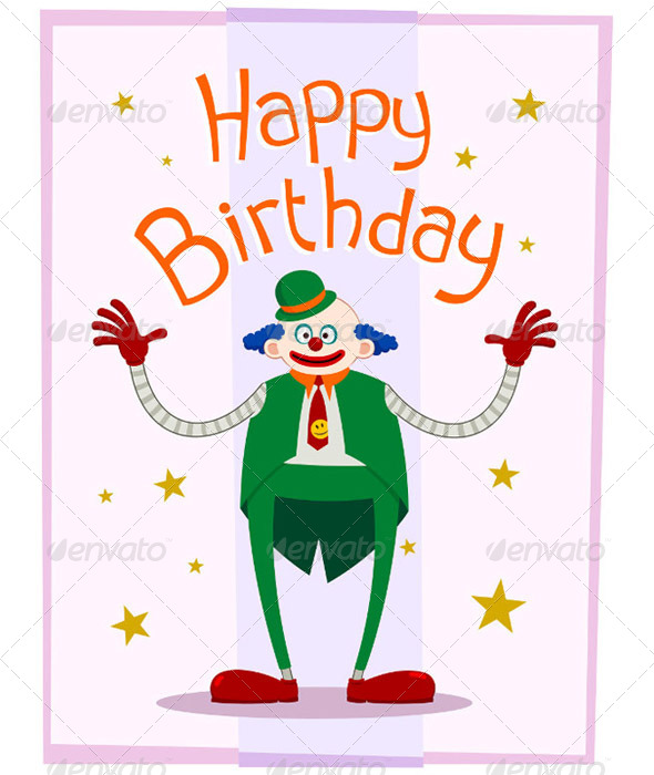 GraphicRiver Fat Clown Birthday Greeting 5006101