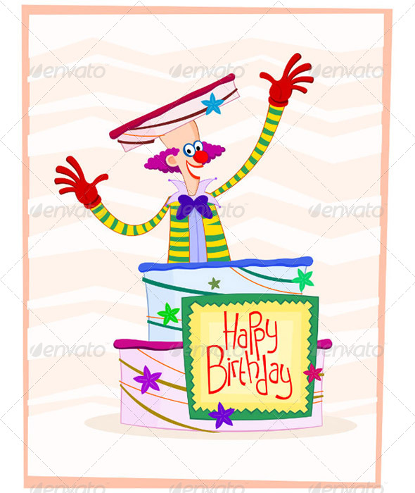 GraphicRiver Happy Clown Birthday Greeting 5006135