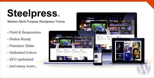 ThemeForest Steelpress Modern Multi-Purpose Wordpress Theme 4976361