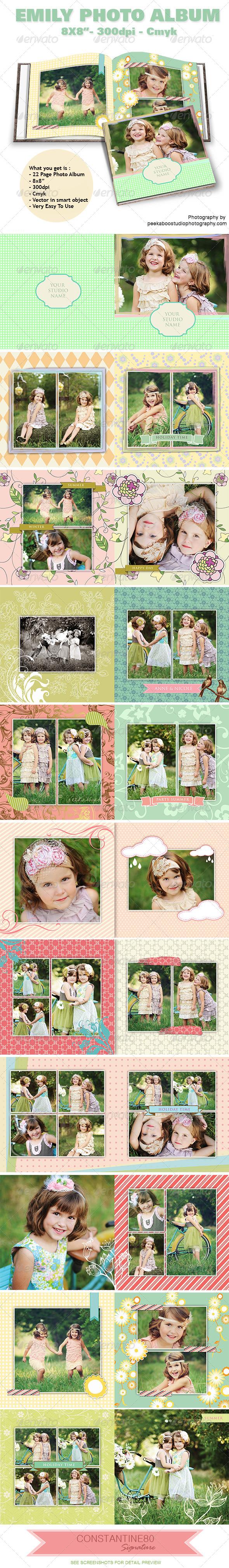 Emily Photo Album - Photo Albums Print Templates
